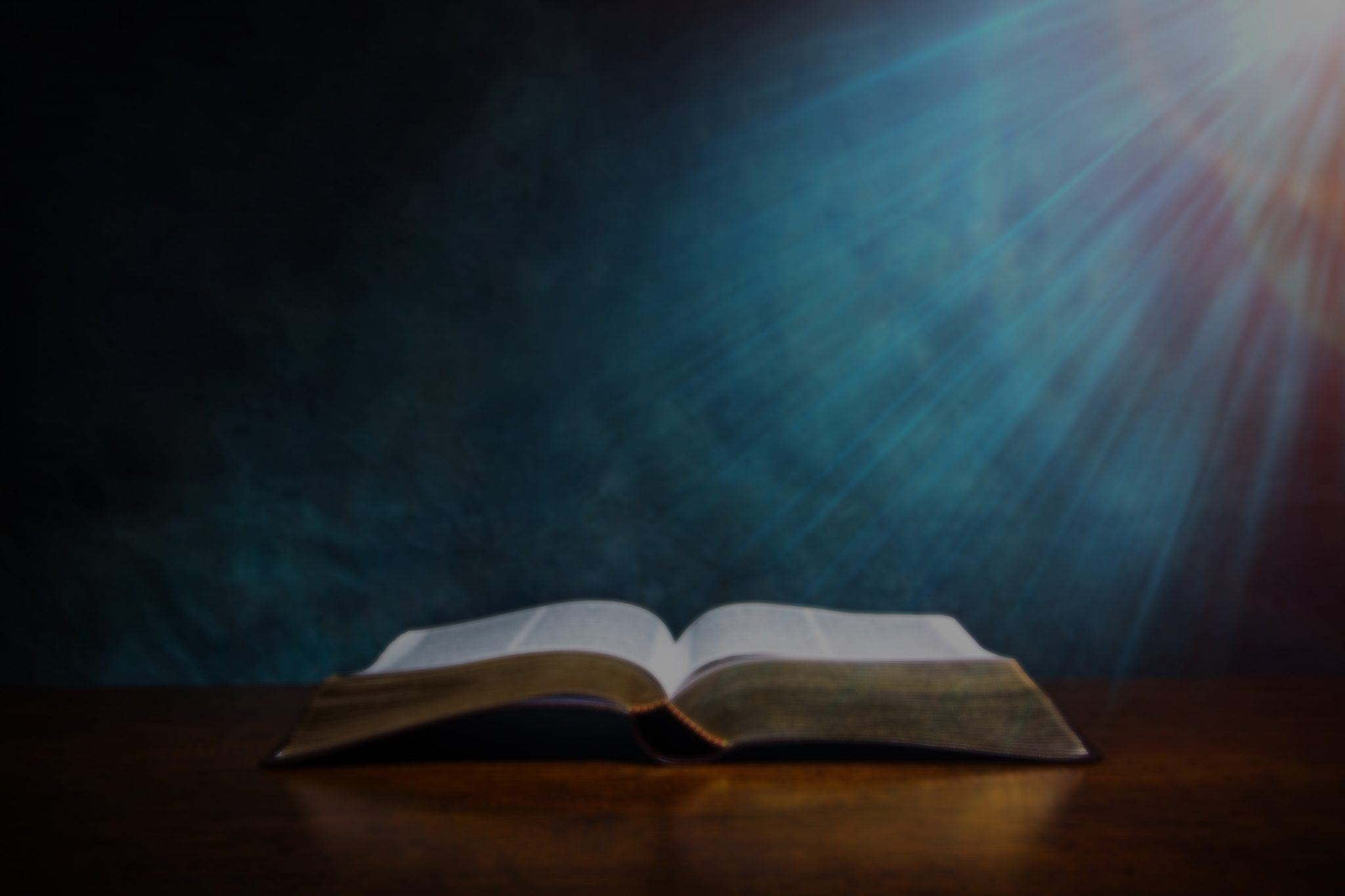 Open Bible blurred